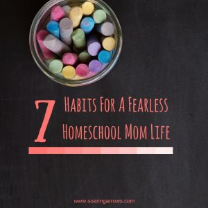 7 Habits For A Fearless Homeschool Mom Life (1)